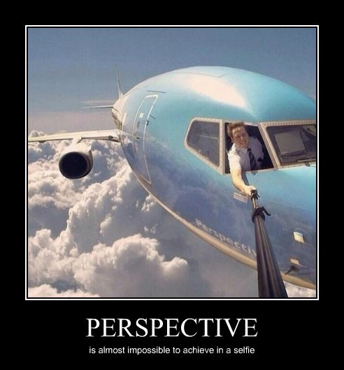 PERSPECTIVE is almost impossible to achieve in a selfie