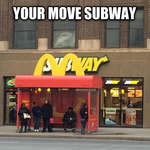 monday thru friday work McDonald's Subway bus stop - 8112687872