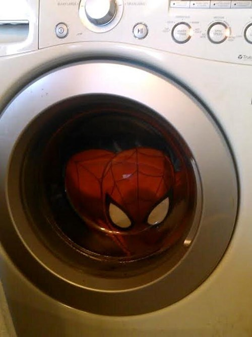 laundry,scary,Spider-Man
