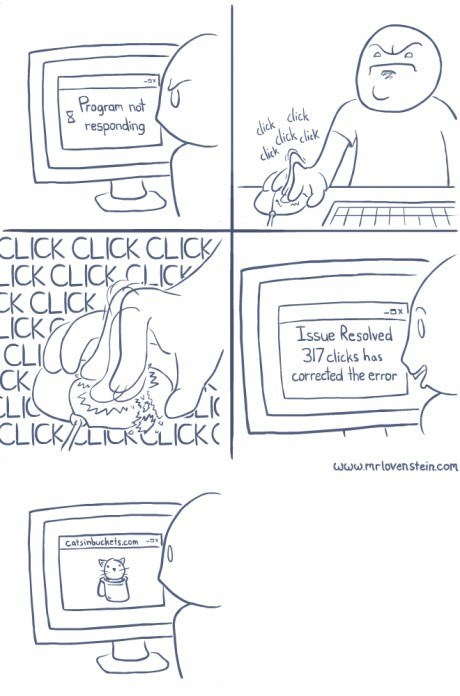 sick truth computers Cats web comics - 8112731392