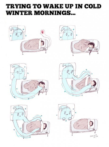 bed,cold,winter,web comics