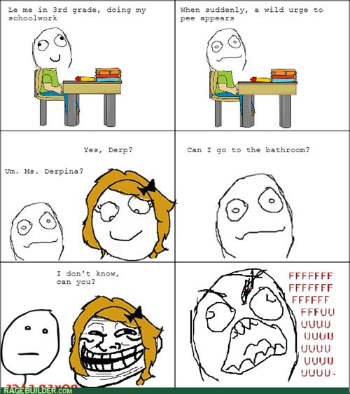 rage trollface school kids teacher bathroom - 8112997632