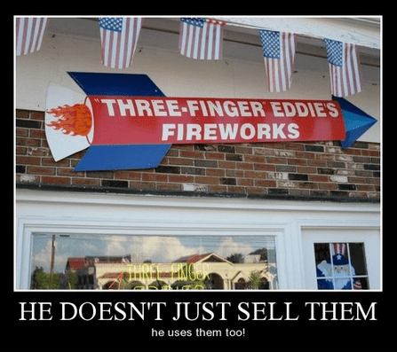bad idea fireworks products funny