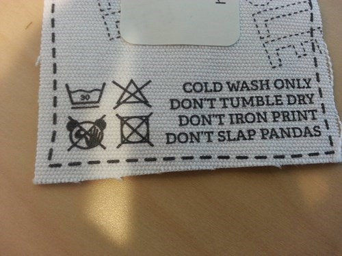 panda poorly dressed instructions tag g rated - 8113013248