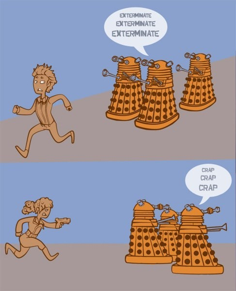 daleks,11th Doctor,River Song
