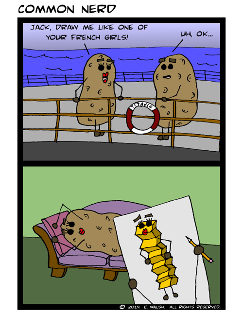titanic,french fries,potatoes,web comics