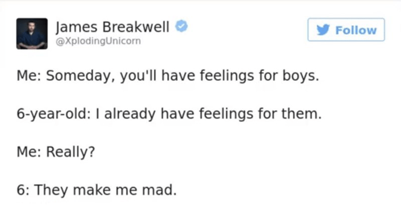 Funny James Breakwell tweets.