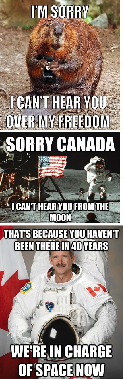 Canada oh snap funny space - 8113224960