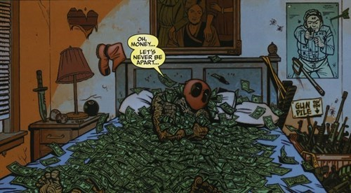 deadpool Straight off the Page money - 8113252864
