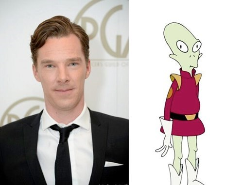 benedict cumberbatch cartoons futurama - 8113298688