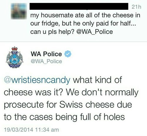 twitter,cheese,puns,police,g rated,win