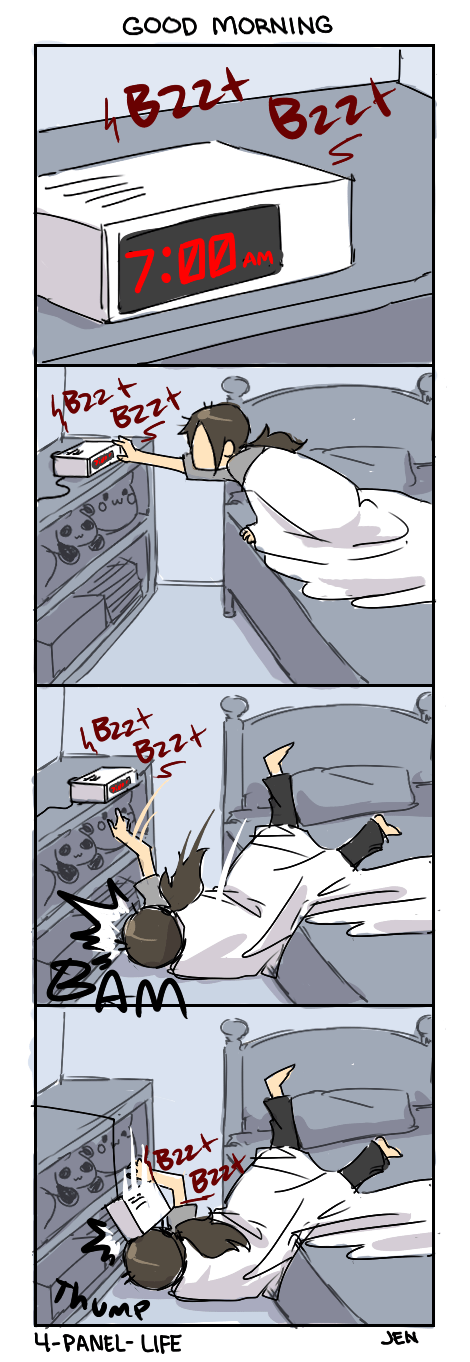 mornings alarms bad luck web comics