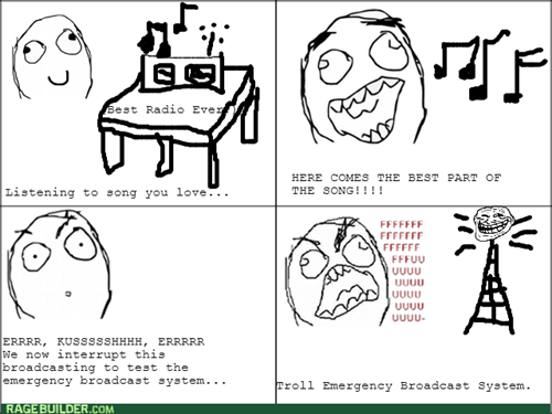 radio rage Music trollface emergency broadcast - 8114528256