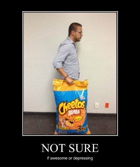 depressing awesome cheetos funny - 8114543616