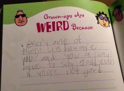 kids adult parenting weird - 8114654208