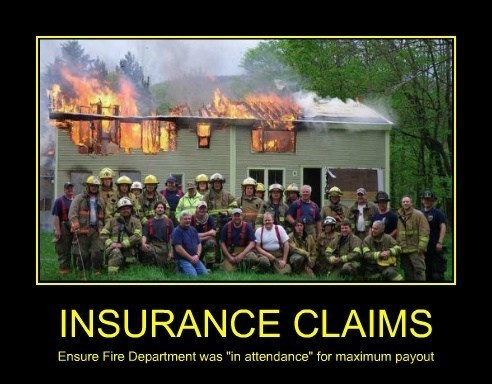 insurance fire fire department funny - 8114802688