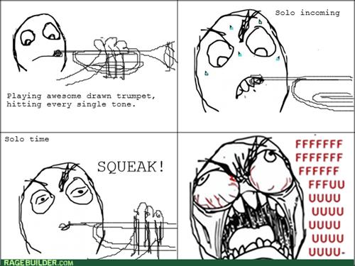 rage,Music,solo,trumpet,squeak