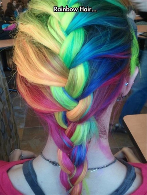 braid,hair,win,poorly dressed,rainbow,g rated