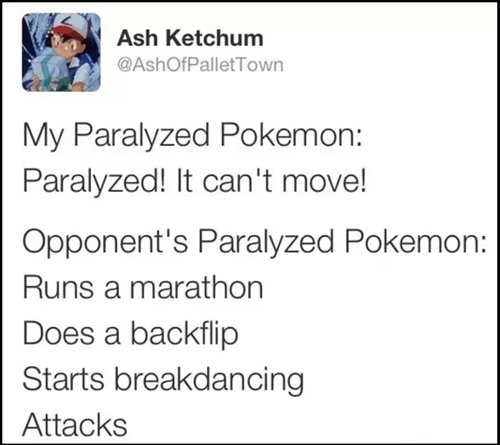 Pokémon pokemon logic paralyzed twitter - 8114835712