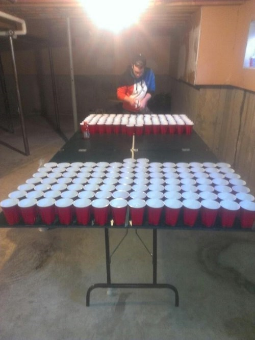 bad idea,beer pong,funny,wtf