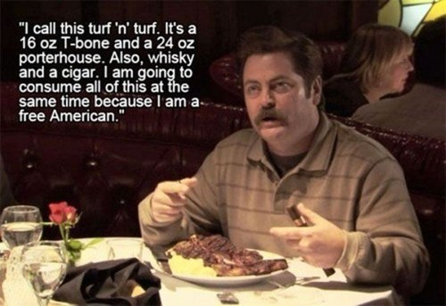 awesome funny meat ron swanson - 8114889472