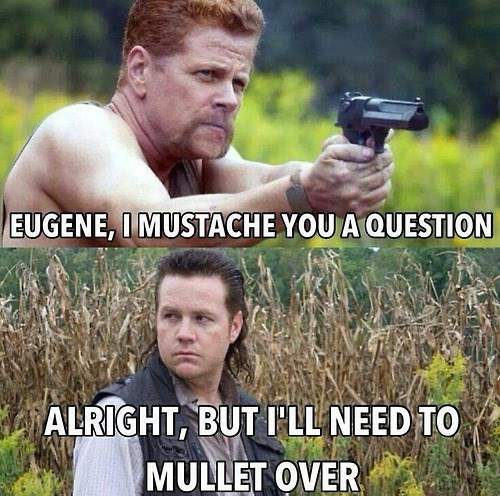 puns,mullet,The Walking Dead,abraham ford