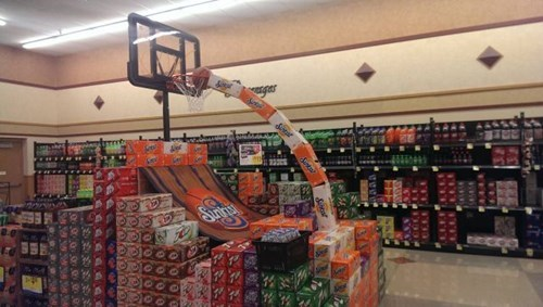 grocery store,soda,march madness,monday thru friday,pop,work