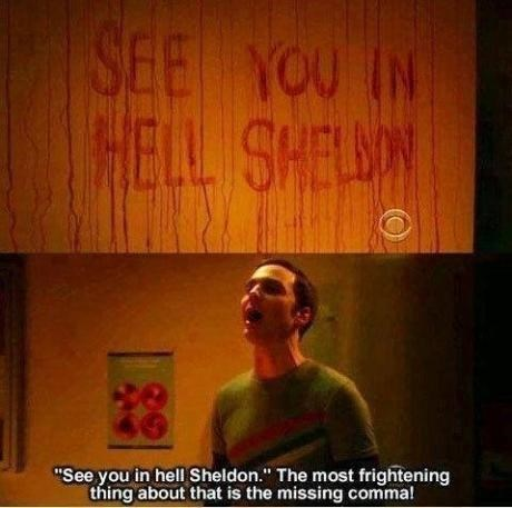 horror,the big bang theory,Sheldon Cooper,signs