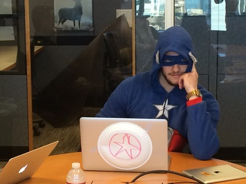 captain america coworkers monday thru friday poorly dressed work g rated - 8115043328
