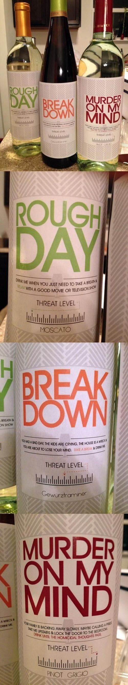 labels wine threat level funny after 12 g rated - 8115508736