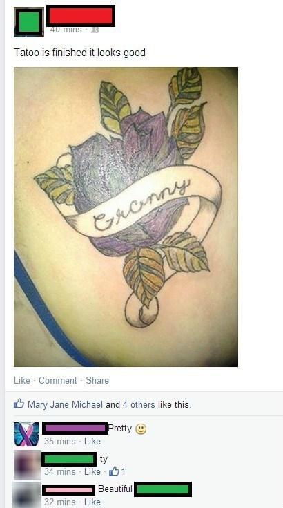 grandma tattoos Ugliest Tattoos - 8115694848
