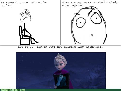 frozen,poop,toilet,let it go