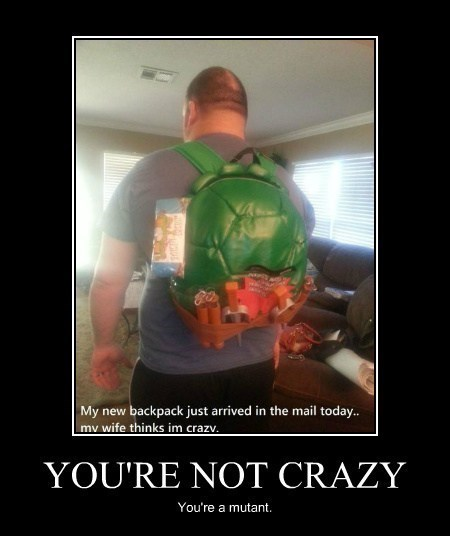 backpack,funny,wife,TMNT