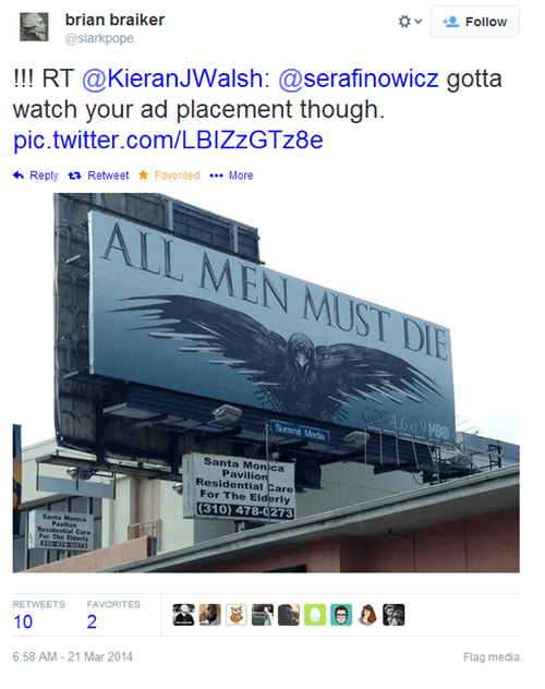 advertisement Game of Thrones juxtaposition whoops failbook g rated - 8116211712