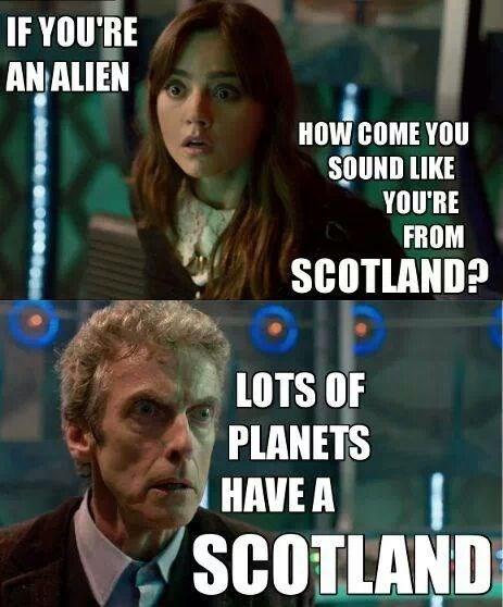 clara oswin oswald scotland 12th Doctor accent - 8116396544