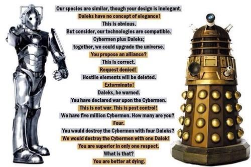 daleks cybermen doctor who - 8116404992