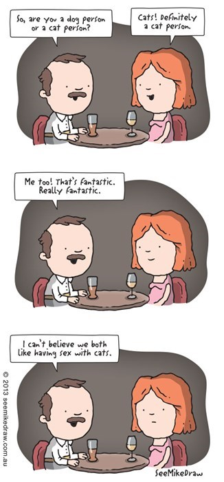 first date Awkward Cats funny Rage Comics - 8116424448