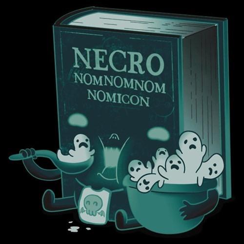 necronomicon,nom nom nom,tshirts