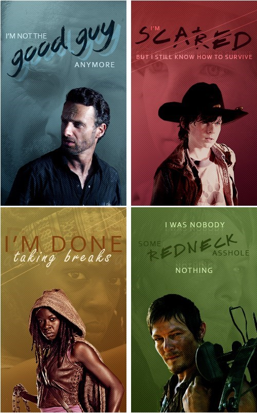 Fan Art lines The Walking Dead - 8116559872