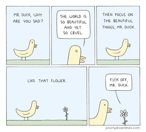 flowers ducks jerks sad but true web comics - 8116564480