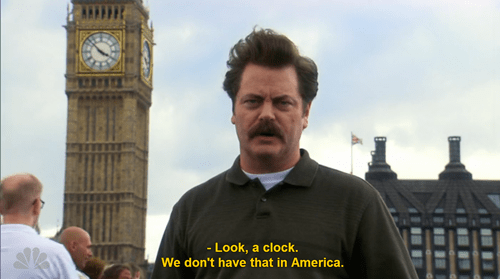 big ben clock funny ron swanson - 8116574208