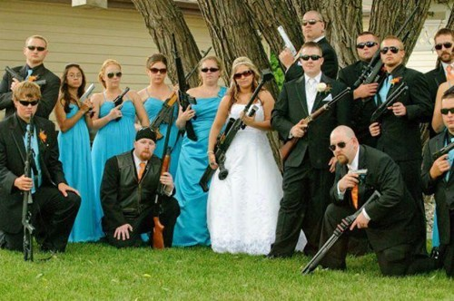 guns rednecks funny wedding - 8116587520