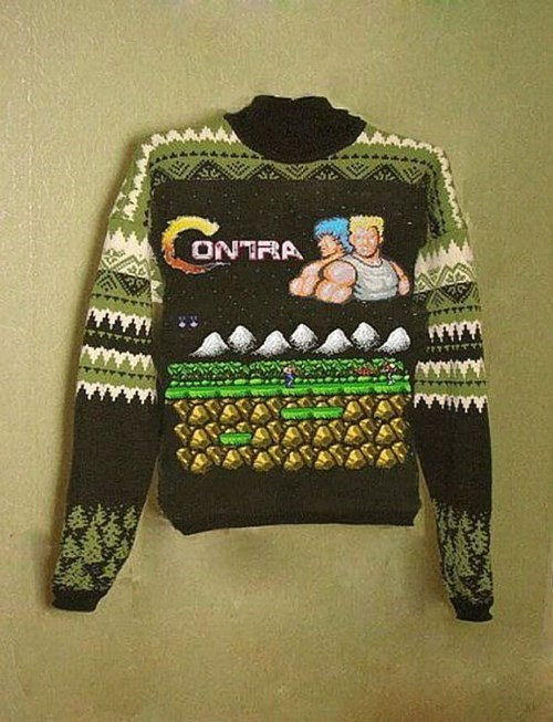 contra,video games,sweater