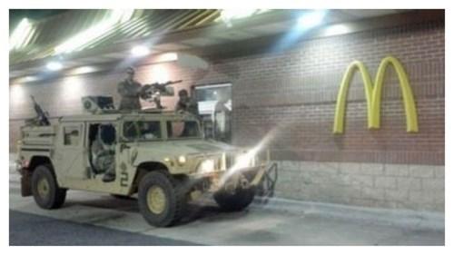 funny,McDonald's,miltary