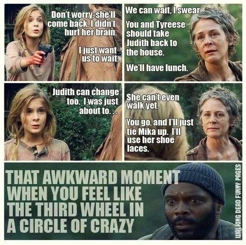 carol peletier tyreese lizzie is crazy - 8116623616