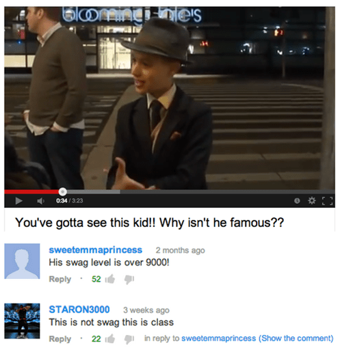 swag,youtube comments