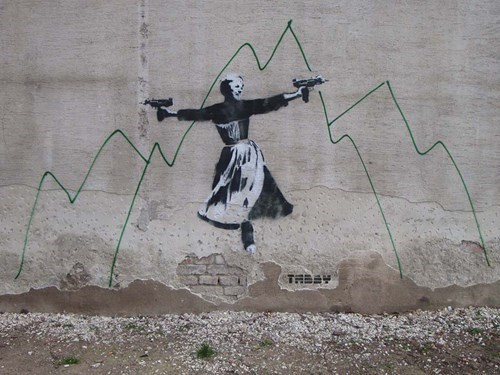graffiti Street Art hacked irl the sound of music g rated win - 8116798208