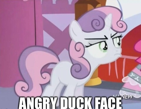 Sweetie Belle duck face MLP - 8117791744