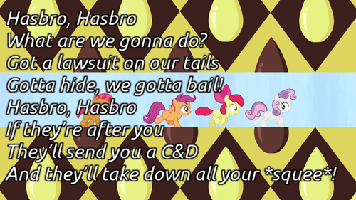 cease and desist Hasbro poetry