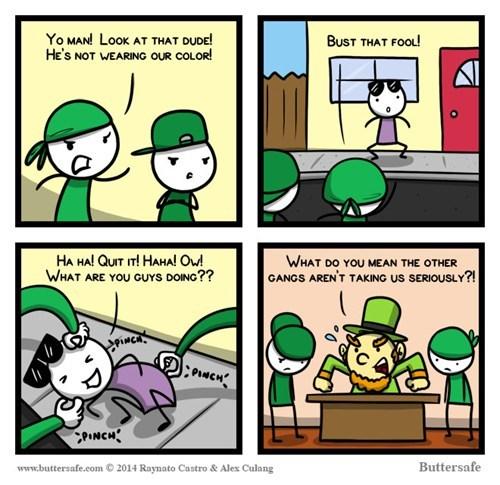 leprechauns,gangs,web comics